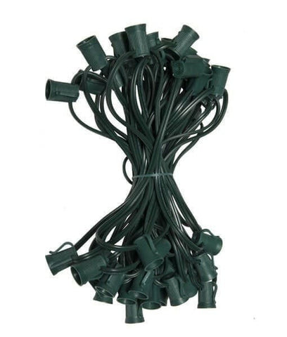 "C9 Christmas Light Stringer - 50- - 12"" Spacing - Green Wire"