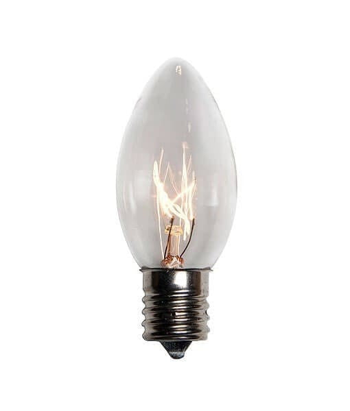 C9 Clear Christmas Light Bulbs