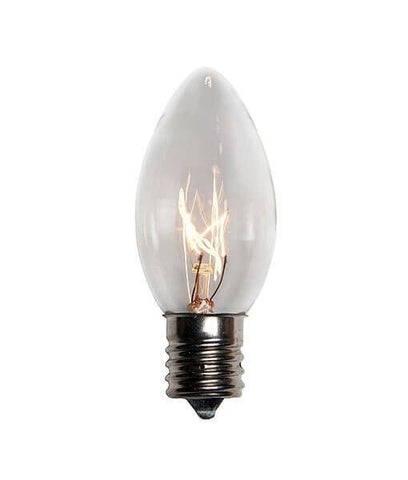 C9 Clear Christmas Light Bulbs - Transparent - Case of 500 [CLOSEOUT]