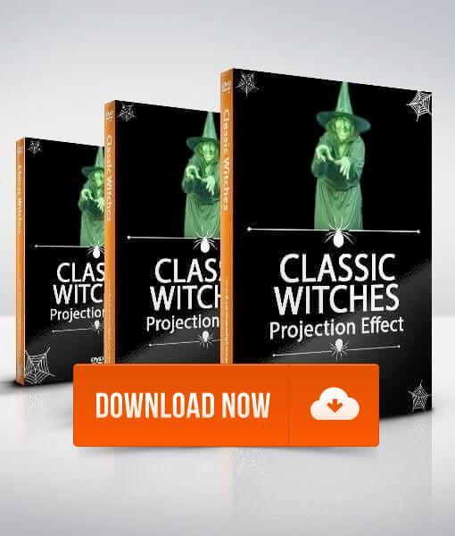 Classic Witch - Projection Effects - Digital Halloween Decorations