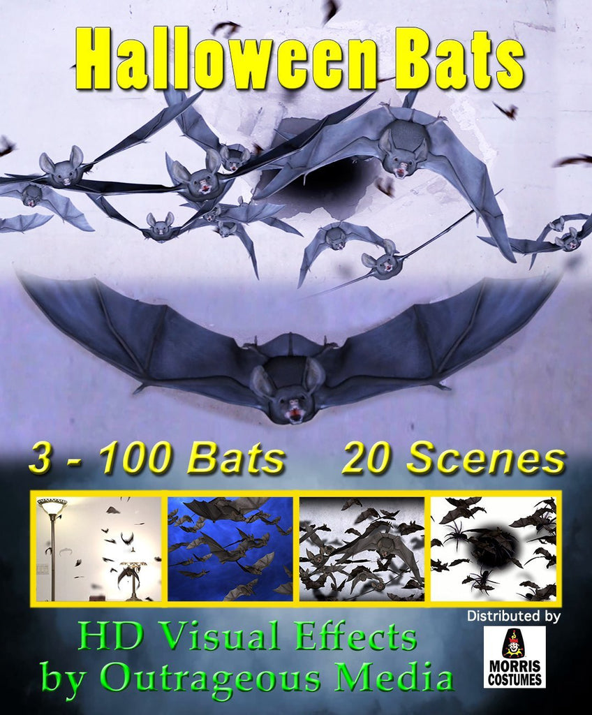 Halloween Bats - Projection Effect - USB Version