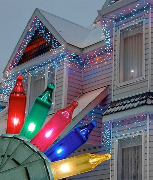Icicle Lights - Multicolor - 100 Bulbs - 6.5'