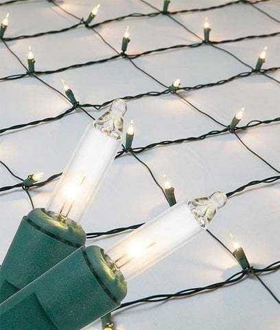 Incandescent Clear Christmas Net Lights - 150 Bulbs - 4'x6'