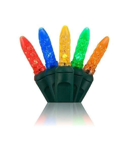 "M5 Multicolor LED Mini Lights - 50 Bulbs - 4"" Spacing"