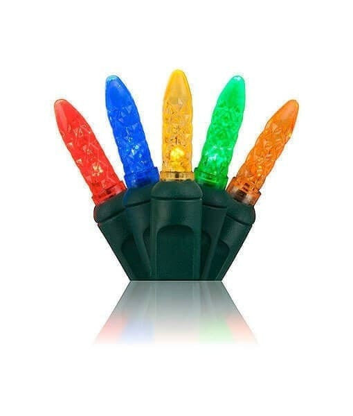 "M5 Multicolor LED Mini Lights - 70 Bulbs - 4"" Spacing"