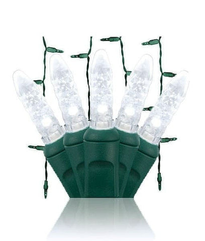 "M5 Pure White LED Icicle Lights -70 Bulbs, 7.5"" Long"