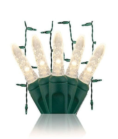 "M5 Warm White LED Icicle Lights -70 Bulbs, 7.5"" Long"