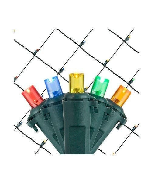 Multicolor 5mm LED Christmas Net Lights - 100 Bulbs - 4'x6'
