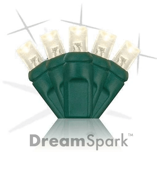 "5mm LED Smooth Fade Lights - DreamSpark™ - Warm White - 70 Bulbs, 4"" Spacing"