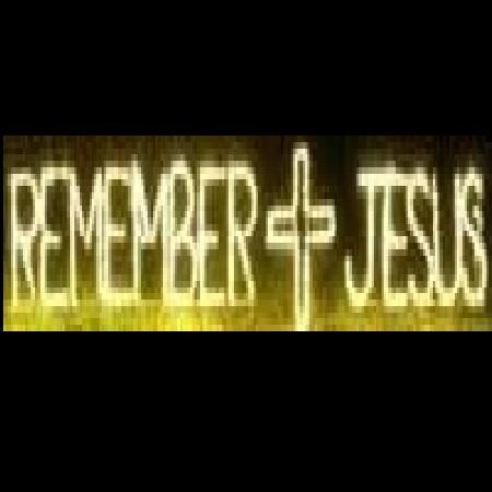 Remember Jesus with Cross Block