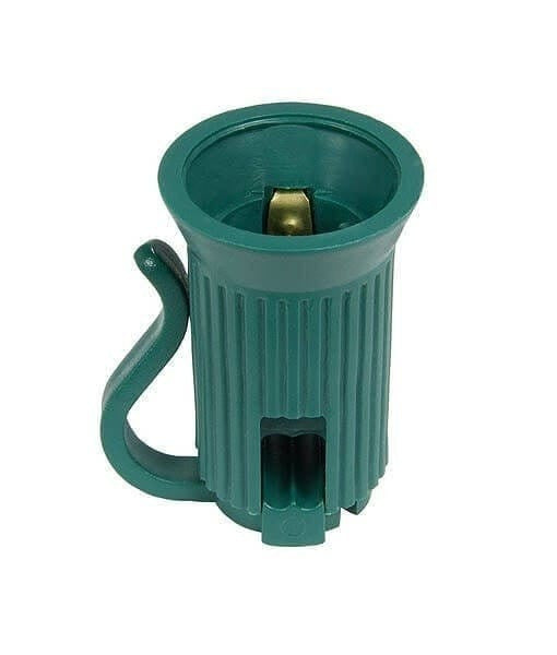 Replacement Sockets - C7 / E12, SPT1, Pack of 25 - Green