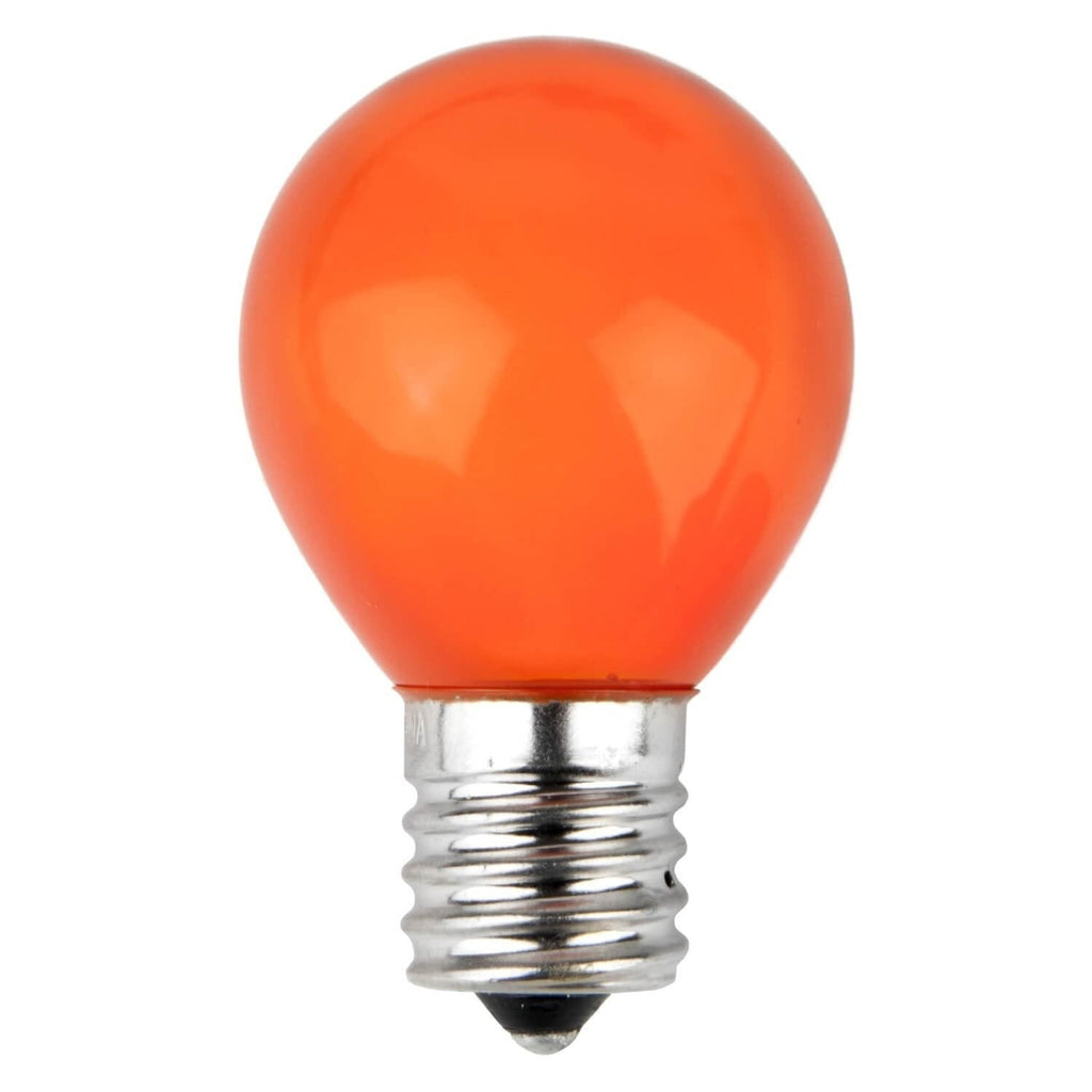 S11 Orange Opaque Bulbs - E17 / C9 Base - Box of 25