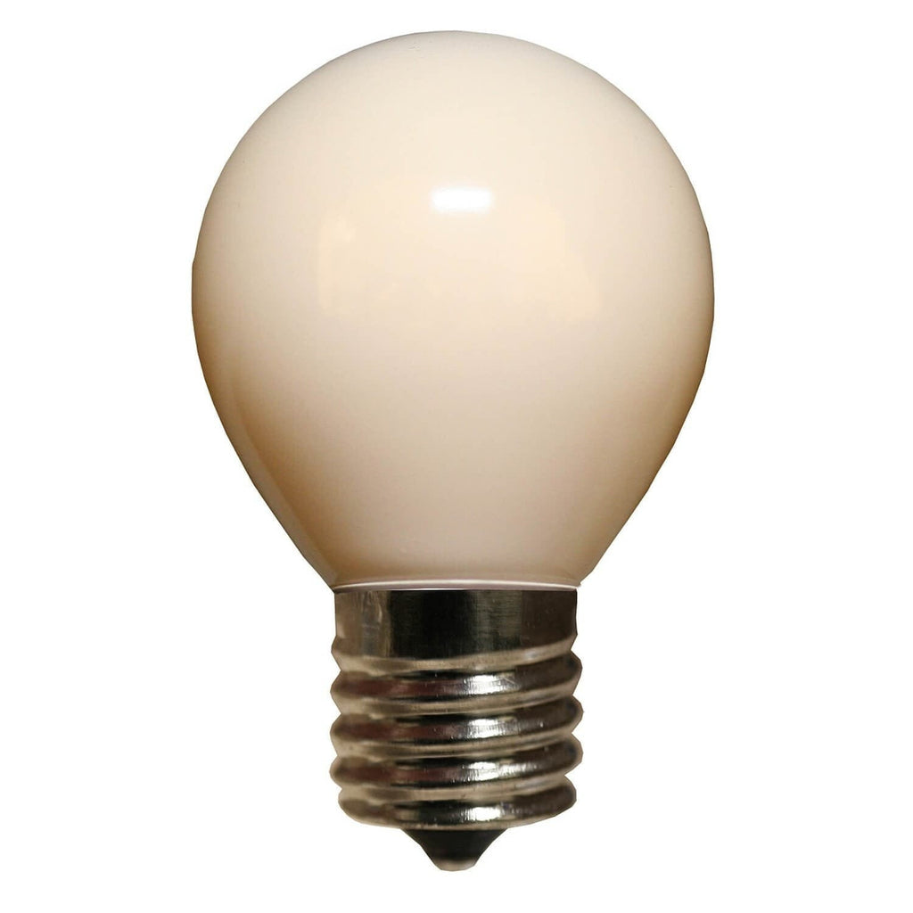 S11 White Opaque Bulbs - E17 / C9 Base - Box of 25
