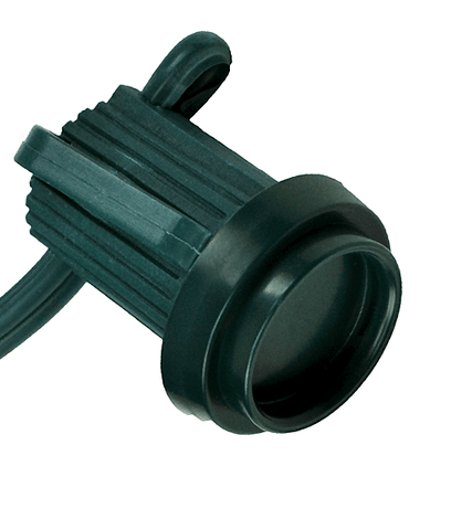 Safe-T Caps Socket Cap Covers for C7 and C9 Bulbs Stringers - Green - Pack of 100