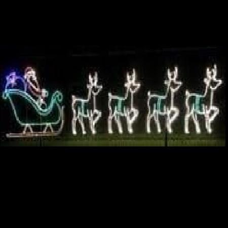 Santa in Sleigh with 4 Deer Commercial