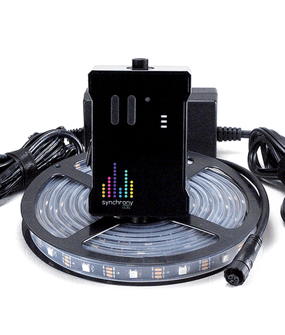 Synchrony™ LED Sound Reactive Music to Lights Controller RGB Strip Starter Kit - Black PCB