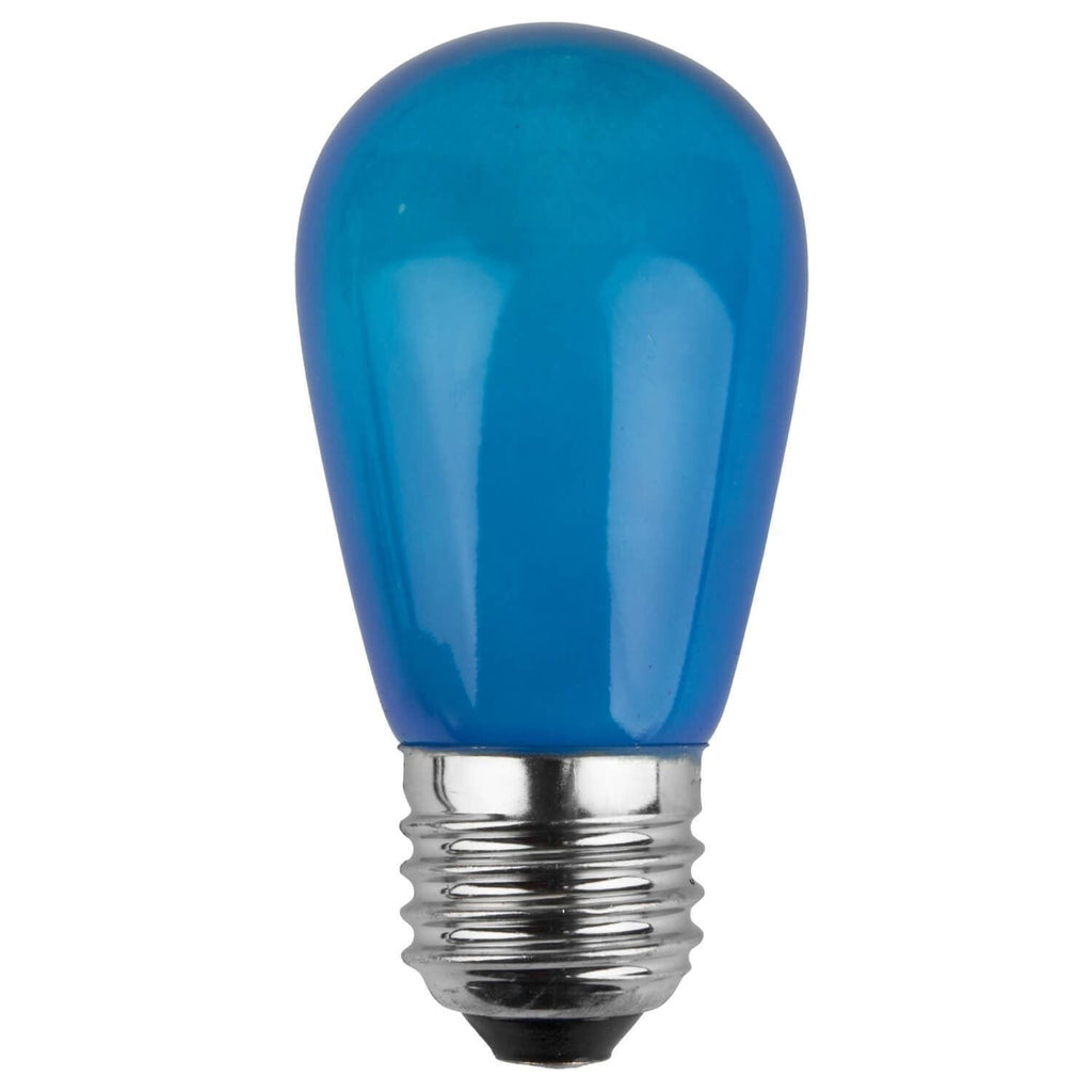 T50 / S14 Blue Opaque Bulbs - E26 Medium Base - Box of 20