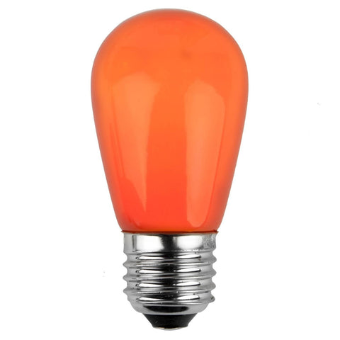 T50 / S14 Orange Opaque Bulbs - E26 Medium Base - Box of 20