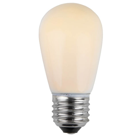 T50 / S14 White Opaque Bulbs - E26 Medium Base - Box of 20