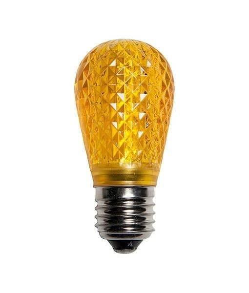 T50 Yellow / Gold LED Bulbs - Medium / E26 Base, Non-Dimmable - Pack of 25