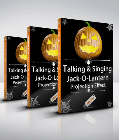 Talking and Singing Pumpkins / Jack-O-Lanterns - Projection Effect - USB Version