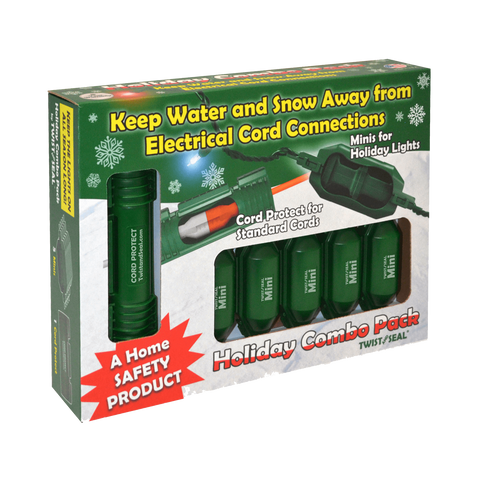 Twist and Seal Christmas Light Combo Pack - Christmas Light Extension Cord Protection