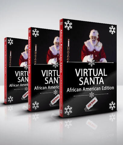 Virtual Santa - African American Edition - Projection Effect - USB Version