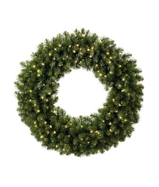 "Wreath - 60"" (5') Sequoia Wreath - Pre-Lit - LED Warm White"