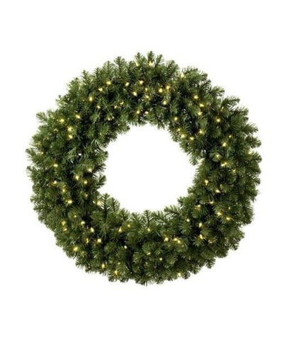 "Wreath - 72"" (6') Sequoia Wreath - Pre-Lit - LED Warm White"