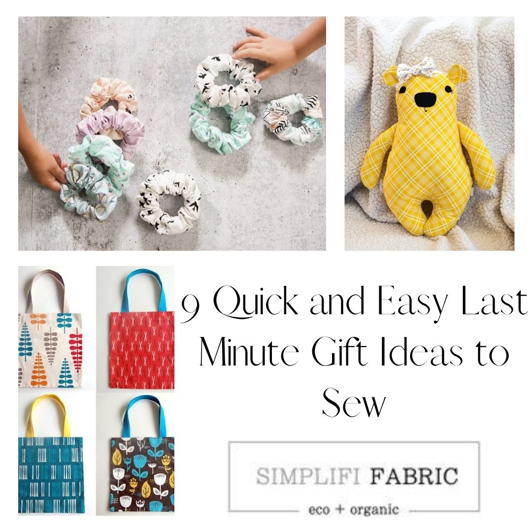 9 Quick and Easy Last Minute Gift Ideas to Sew
