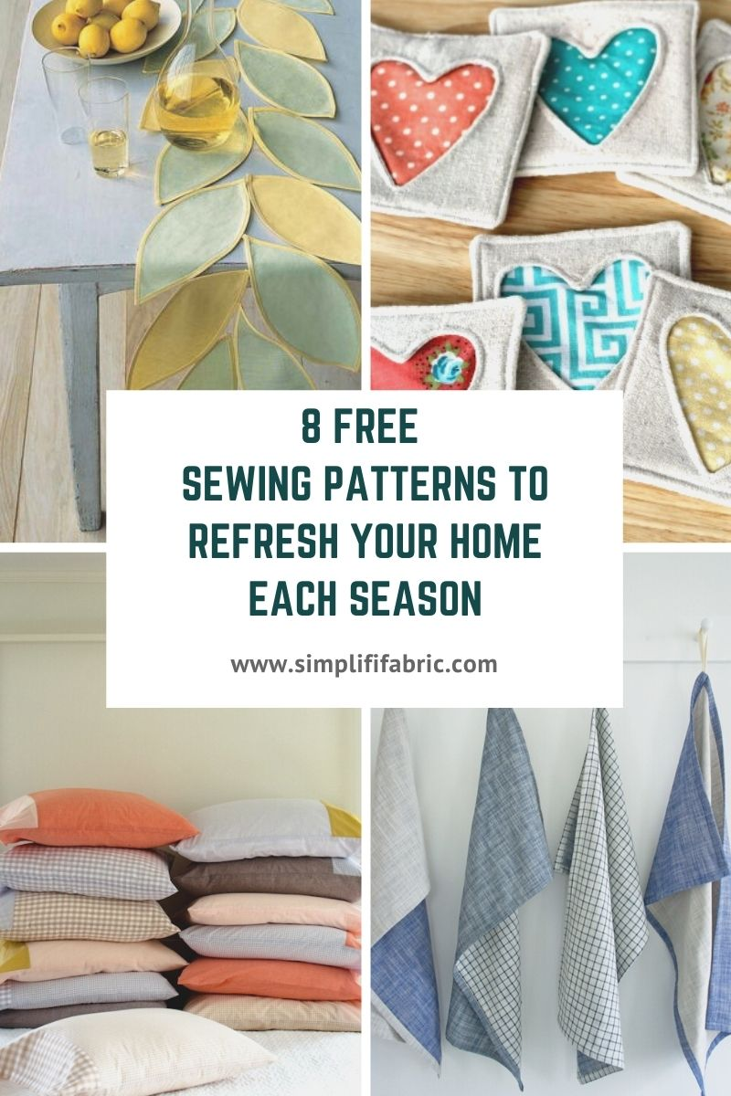 8 Free sewing patterns to refresh your home each season