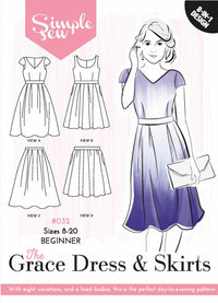 The Grace Dress + Skirt - Simple Sew - Sewing Pattern