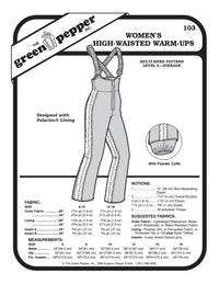 Women's High Waisted Warm-up Pattern - 103 - The Green Pepper Patterns