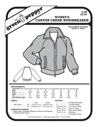 Women's Canyon Creek Jacket Pattern - 119 - The Green Pepper Patterns