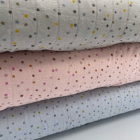 Dots - Double Gauze Jersey - European Import - Light Grey
