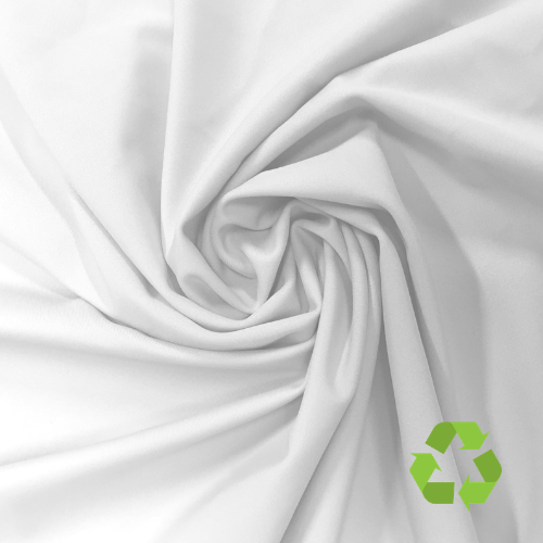 Repreve® Recycled Polyester Spandex Jersey - White (PFP) - 205gsm