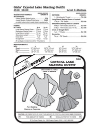 Kids Crystal Lake Skating Outfit - 516 - The Green Pepper Patterns