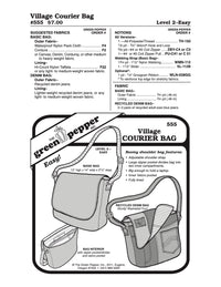 Village Courier Bag Pattern - 555 - The Green Pepper Patterns
