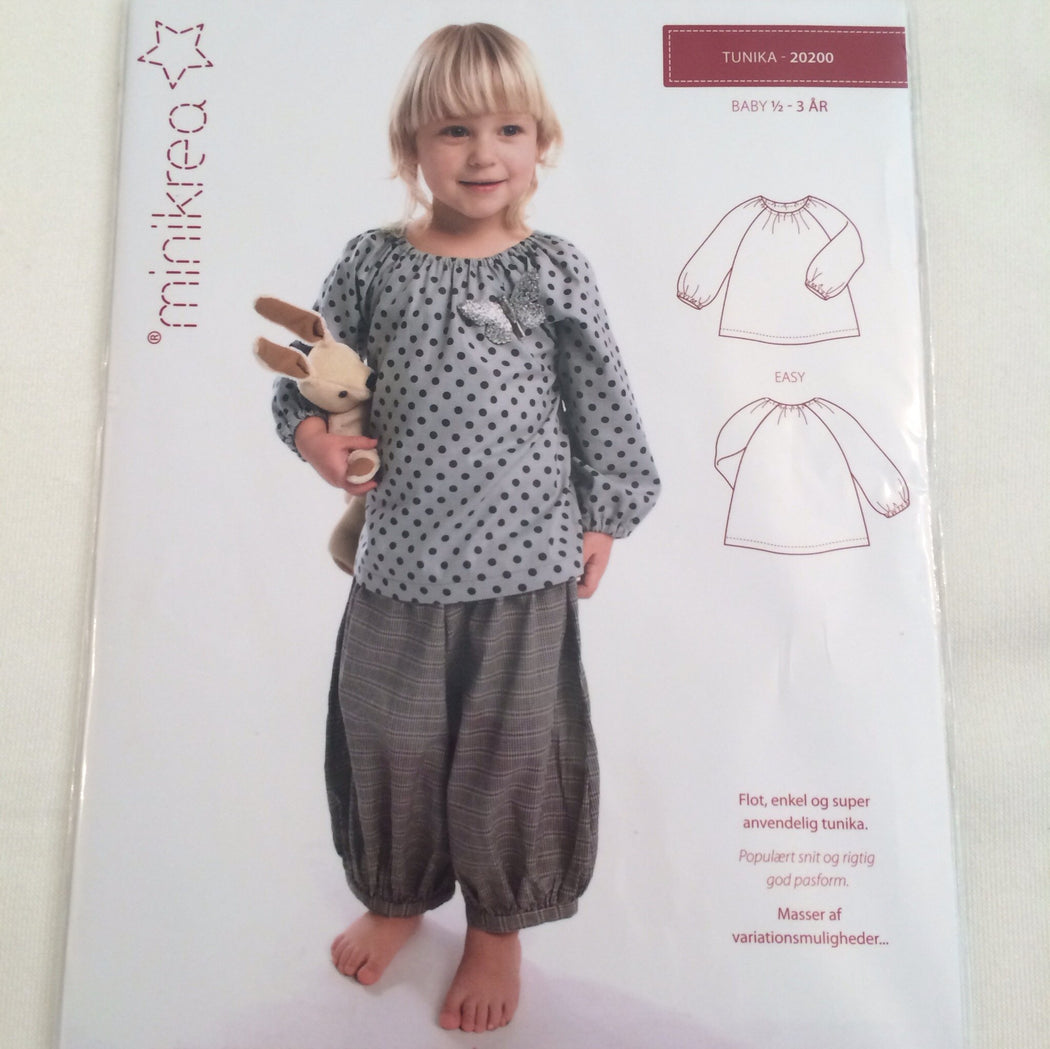 Tunic Top - Minikrea - Pattern - 6mo-3years