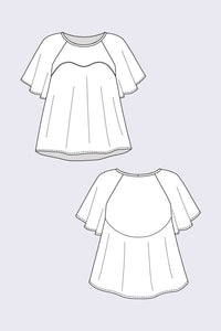 Ansa Butterfly Sleeve Dress + Top - Named Clothing - Sewing Pattern