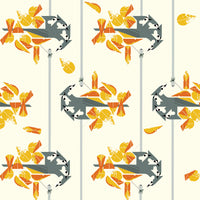 Tufted Titmouse - Lakehouse Vol. 2 - Charley Harper - Birch Fabrics - Poplin