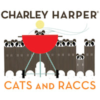 Basket Racks - Cats and Raccs - Charley Harper - Birch Fabrics - Poplin - Cats and Raccs - Charley Harper - Birch Fabrics - Poplin