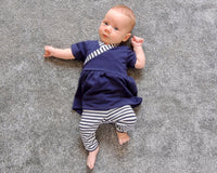 Flo Dress + Riley Leggings (0-24m) Baby + Toddler Sewing Pattern - Dhurata Davies