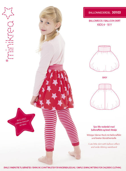 Balloon Skirt - 30103 - Minikrea sewing pattern - 4-10yrs (4823.90.00.95)