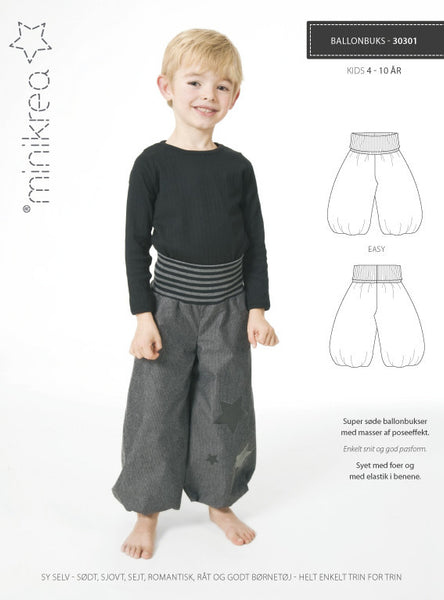 Balloon Pants - 30301 -  Minikrea sewing pattern - 4-10 yr (4823.90.00.95)