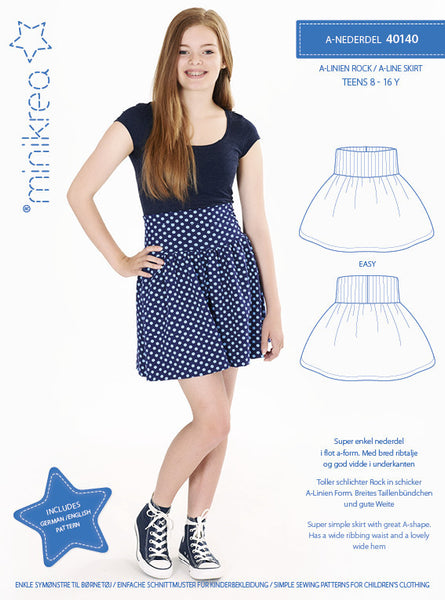 A-Line Skirt - 40140 - Minikrea sewing pattern - 8-16yrs (4823.90.00.95)