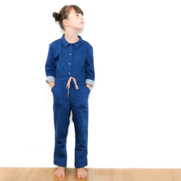 Brooklyn Jumpsuit Sewing Pattern - Kids 3/12Y - Ikatee