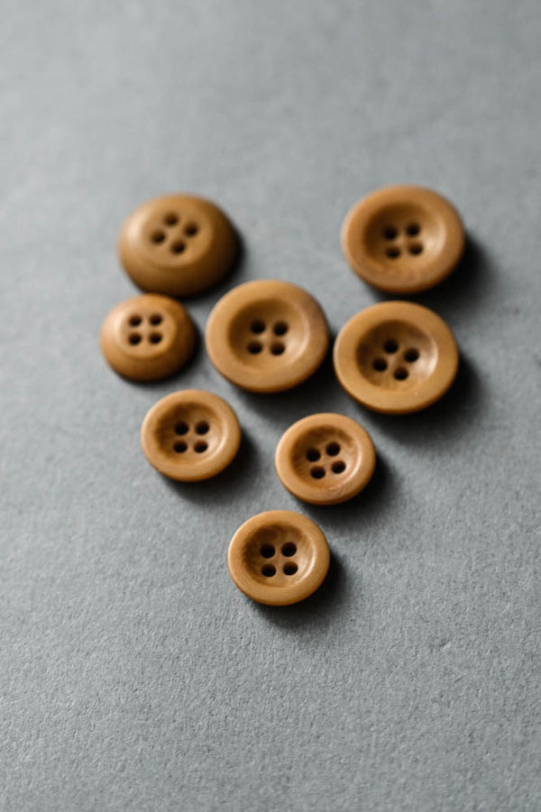 Gold - Corozo Button - Merchant & Mills - 14mm, 18mm, 20mm & 22mm