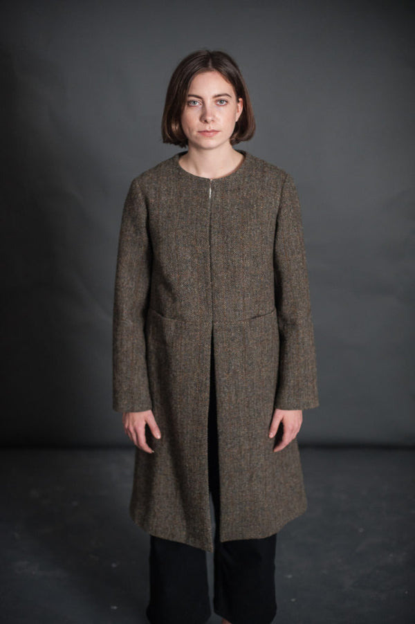 The Strand Coat Womens Pattern - Merchant & Mills