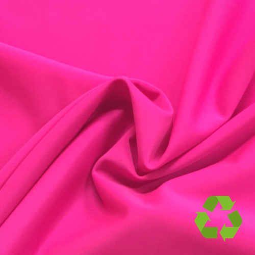 Repreve® Recycled Polyester Spandex Jersey - Bright Pink - 205gsm